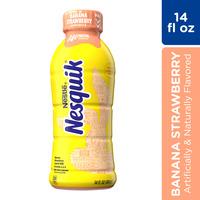 Nestle Nesquik Banana Strawberry Flavored Lowfat Milk, Ready to Drink