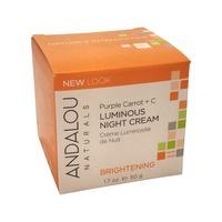 Andalou Naturals Purple Carrot + C Luminous Night Cream