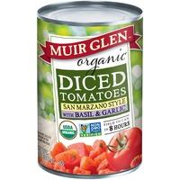 Muir Glen Organic Diced San Marzano Style with Basil & Garlic Tomatoes