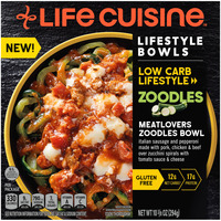 Life Cuisine Low Carb Lifestyle Meatlovers Zoodles Bowl Frozen Meal