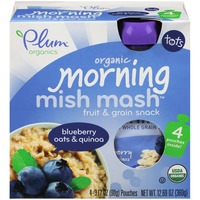 Plum Tots Mish Mash Blueberry Oats & Quinoa Fruit & Grain Snack