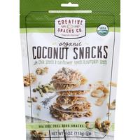 Creative Snacks Co. Coconut Snacks, Organic, with Chia Seeds, Sunflower Seeds, Pumpkin Seeds
