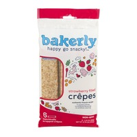 Bakerly Happy Go Snacky! Crepes Strawberry Filled - 6 CT