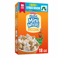 Kellogg's Frosted Mini-Wheats Breakfast Cereal, High Fiber Cereal, Kids Snacks, Original