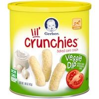 Gerber Graduates Lil' Crunchies Veggie Dip Baked Corn Snack