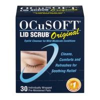 6ff327aa50 OCuSOFT Lid Scrub Original Individually Wrapped Pre-Moistened Pads - 30 CT