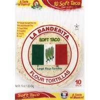 La Banderita Large Flour Tortillas Soft Taco
