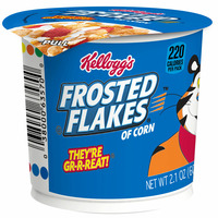 Kellogg's Frosted Flakes Breakfast Cereal Cup, 8 Vitamins and Minerals, Kids Snacks, Original