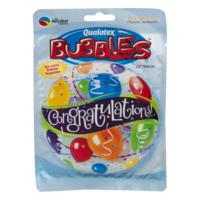 Qualatex Bubbles Stretchy Plastic Balloon Congratulations!