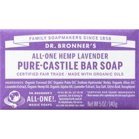 Dr. Bronner's All-One Hemp Lavender Pure-Castile Bar Soap