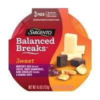 Sargento® Sweet Balanced Breaks®, Monterey Jack Natural Cheese, Dried Cranberries, Dark Chocolate Chunks & Banana Chips