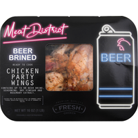 Meat District Chicken Party Wings, Beer Brined