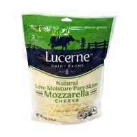Lucerne Cheese Shredded Mozzarella Low Moisture Part Skim
