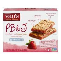 Van's PB&J Sandwich Bars Strawberry and Peanut Butter - 5 CT