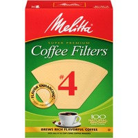Melitta Natural Brown Paper #4 Size Cone Coffee Filters
