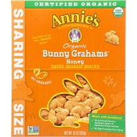 Annie's Homegrown Organic Honey Bunny Grahams Baked Graham Snacks