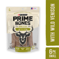 Purina Prime Bones Made in USA Facilities Limited Ingredient Small Dog Treats, Chew Stick With Wild Venison