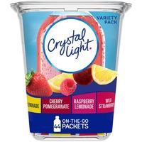 Crystal Light Lemonade, Cherry Pomengrate, Raspberry Lemonade & Wild Strawberry Powdered Drink Mix Variety Pack