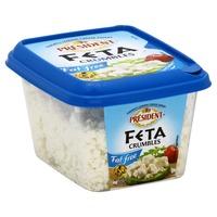 Président Crumbled Feta Cheese, Fat Free