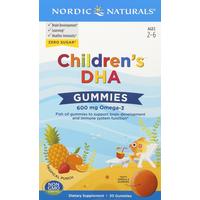 Nordic Naturals DHA, Children's, Tropical Punch, Children's, Gummies,