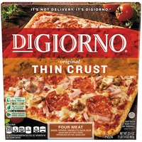DiGiorno Original Thin Crust Four Meat (Sausage, Pepperoni, Canadian Style Bacon, Bacon) Pizza