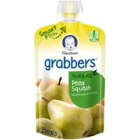 Gerber Grabbers Pear Squash Squeezable Puree