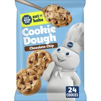 Pillsbury Ready To Bake Chocolate Chip Cookies, 24 Count