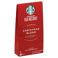 starbucks coffee 100 arabica instant and microground christmas blend vintage 2017