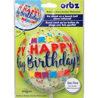 Orbz Balloon, See-Thru