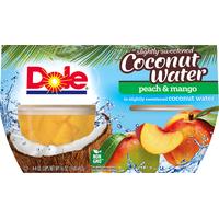 Dole Peach & Mango in Slightly Sweetened Coconut Water
