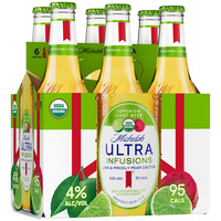 Michelob Ultra Infusions Lime & Prickly Pear Cactus Light Beer Bottles