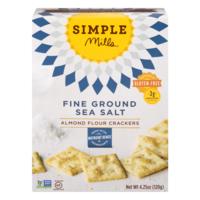 Simple Mills Almond Flour Crackers Fine Ground Sea Salt