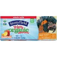 Stonyfield Organic Strawberry Banana Whole Milk Organic Squeezers Yogurt
