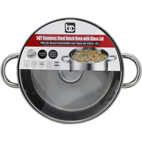 BC Dutch Oven, with Glass Lid, Stainless Steel, 5 Quart