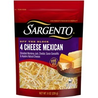 Sargento Off The Block 4 Cheese Mexican Fine Cut Shredded Cheese