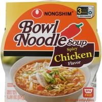 Nongshim Bowl Noodle Soup, Spicy Chicken Flavor