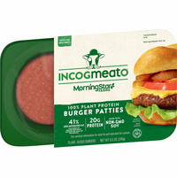 MorningStar Farms Incogmeato Meatless Burgers, Vegan Plant-Based Protein, Frozen Meal, Original