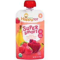Happy Tot Organics Super Smart Organic Bananas, Beets & Strawberries Fruit & Veggie Blend
