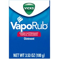 Vicks VapoRub Cough Suppressant Topical Analgesic Ointment Respiratory Care