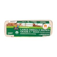 365 Organic Large Omega-3 Brown Grade A Eggs