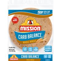 Mission Carb Balance Burrito Whole Wheat Tortillas