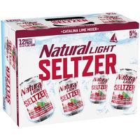 Natural Light Hard Seltzer Catalina Lime Mixer, Cans