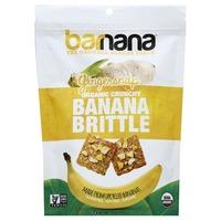 Barnana Banana Brittle, Organic Crunchy, Gingersnap