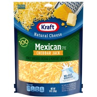 Kraft Finely Shredded Mexican Style Cheddar Jack Cheese Blend