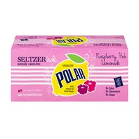 Polar Sparkling Seltzer Raspberry Pink Lemonade - 8 CT