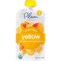 Plum Organics Stage 2 Yellow Mango Yellow Zucchini Corn & Turmeric Organic Baby Food