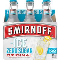 Smirnoff Malt Beverage, Zero Sugar, Original