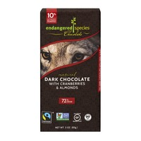 Endangered Species Chocolate Bar Natural Dark Chocolate With Cranberries & Almonds