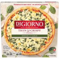 DiGiorno Thin & Crispy Spinach and Garlic Frozen Pizza