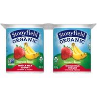 Stonyfield Organic Whole Milk Strawberry Banana Organic Yogurt